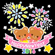 New Year Sticker 2016 sticker #8428153