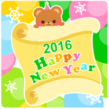 New Year Sticker 2016 sticker #8428157