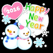 New Year Sticker 2016 sticker #8428158