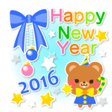 New Year Sticker 2016 sticker #8428160