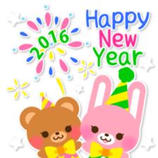 New Year Sticker 2016 sticker #8428161