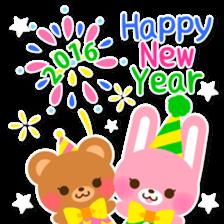 New Year Sticker 2016 sticker #8428161