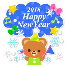 New Year Sticker 2016 sticker #8428163