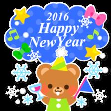 New Year Sticker 2016 sticker #8428163