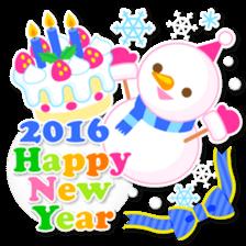 New Year Sticker 2016 sticker #8428165