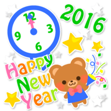 New Year Sticker 2016 sticker #8428170