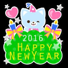 New Year Sticker 2016 sticker #8428171