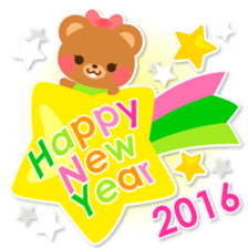 New Year Sticker 2016 sticker #8428174