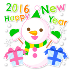 New Year Sticker 2016 sticker #8428176