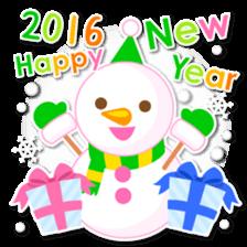 New Year Sticker 2016 sticker #8428176
