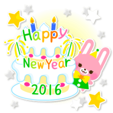 New Year Sticker 2016 sticker #8428177