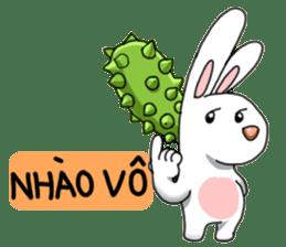 Unruly cute bunny sticker #8429183