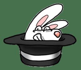 Unruly cute bunny sticker #8429186