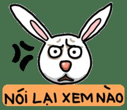 Unruly cute bunny sticker #8429197