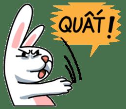 Unruly cute bunny sticker #8429200