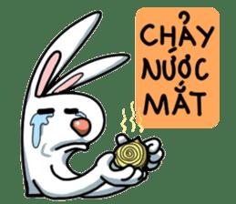 Unruly cute bunny sticker #8429206