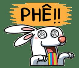 Unruly cute bunny sticker #8429208