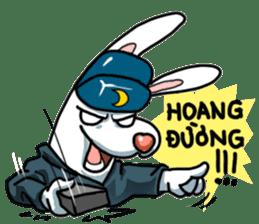 Unruly cute bunny sticker #8429212