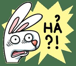 Unruly cute bunny sticker #8429214