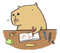 Hey Capybara! sticker #8432649
