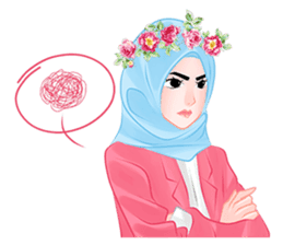 Hijab Chic sticker #8436172