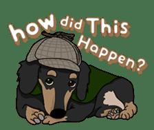 Cute Dachshund Ryu!! Vol 2 (English) sticker #8436978