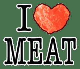 MEAT ENGLISH sticker #8439386