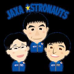 JAXA Official Sticker ISS and Astronauts