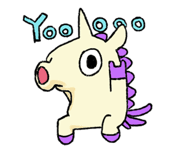 The Noisy Unicorn sticker #8451472