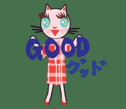 Fashionista Cats ! Speak in English. sticker #8457501