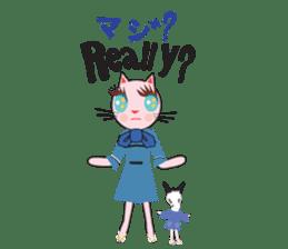 Fashionista Cats ! Speak in English. sticker #8457521