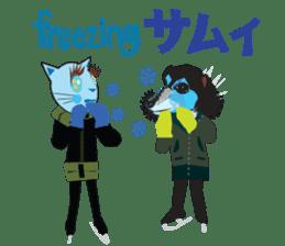 Fashionista Cats ! Speak in English. sticker #8457525