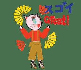 Fashionista Cats ! Speak in English. sticker #8457533
