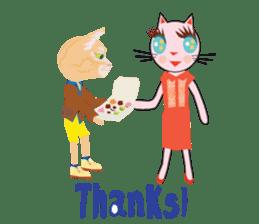 Fashionista Cats ! Speak in English. sticker #8457546