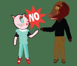 Fashionista Cats ! Speak in English. sticker #8457548