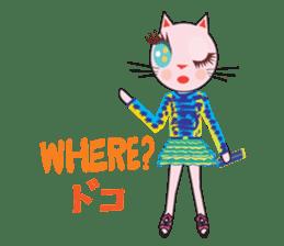 Fashionista Cats ! Speak in English. sticker #8457552