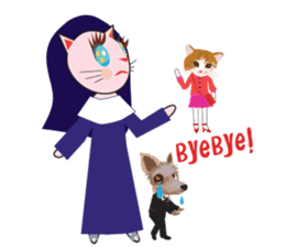 Fashionista Cats ! Speak in English. sticker #8457553