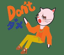 Fashionista Cats ! Speak in English. sticker #8457556