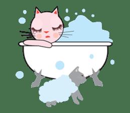 Fashionista Cats ! Speak in English. sticker #8457558