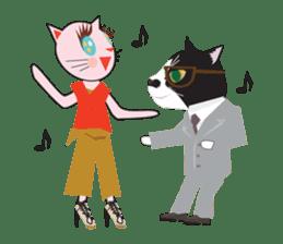 Fashionista Cats ! Speak in English. sticker #8457561