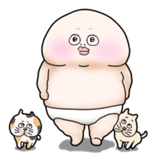 Plump plump ! Moonchi-kun 4 sticker #8470579