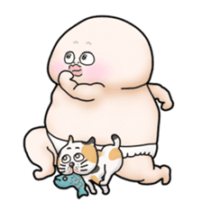 Plump plump ! Moonchi-kun 4 sticker #8470580
