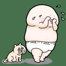Plump plump ! Moonchi-kun 4 sticker #8470581