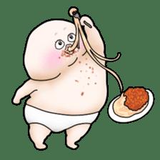 Plump plump ! Moonchi-kun 4 sticker #8470595