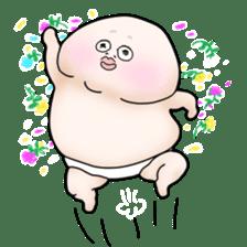 Plump plump ! Moonchi-kun 4 sticker #8470599