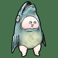 Plump plump ! Moonchi-kun 4 sticker #8470603