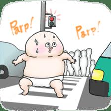 Plump plump ! Moonchi-kun 4 sticker #8470608