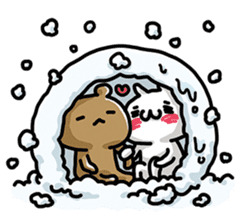 Love mode Winter sticker #8470862