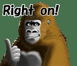 cool gorilla sticker #8472971