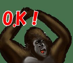cool gorilla sticker #8472972